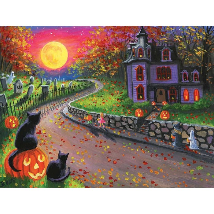 Puzzle Sunsout-52015 XXL Pieces - On a Spooky Night