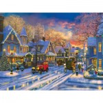 Puzzle  Sunsout-52488 XXL Pieces - Dominic Davison - Small Town Holiday