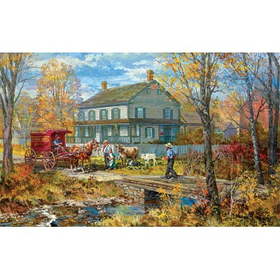 Puzzle  Sunsout-54637 XXL Pieces - Autumn at the Schneider House