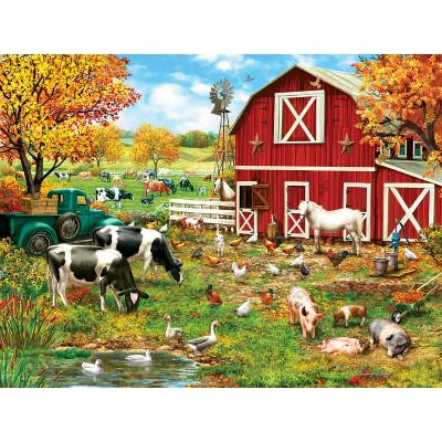Puzzle  Sunsout-59760 XXL Pieces - A Day on the Farm