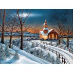 Puzzle  Sunsout-60334 XXL Pieces - Winter Evening Service