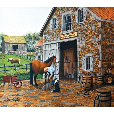 Puzzle  Sunsout-60340 XXL Pieces - Coppery and Stables