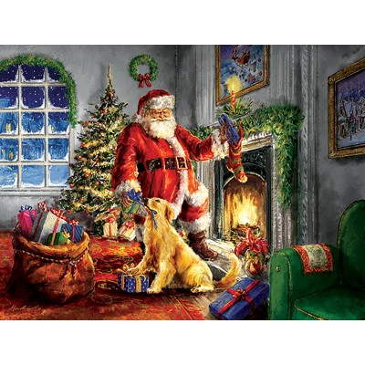 Puzzle  Sunsout-60620 XXL Pieces - Helping Santa