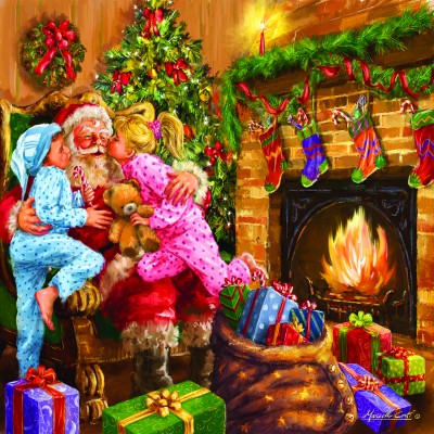 Puzzle  Sunsout-60649 Marcello Corti - Everyone Loves Santa
