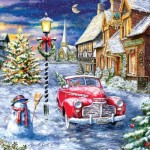 Puzzle  Sunsout-60668 XXL Pieces - A Red Car for Christmas