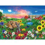 Puzzle  Sunsout-60940 XXL Pieces - Gerald Newton - Peaceful Pastures