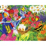 Puzzle  Sunsout-62902 XXL Pieces - Nancy Wernersbach - A Home for Butterflies
