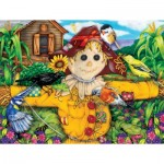 Puzzle  Sunsout-63079 XXL Pieces - Scarecrow and Blackbird