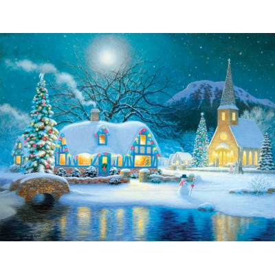 Puzzle  Sunsout-65289 XXL Pieces - Country Snowfall