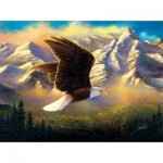 Puzzle  Sunsout-69636 Abraham Hunter - Flying High
