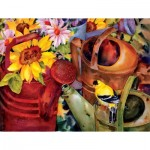 Puzzle  Sunsout-71047 XXL Pieces - Watering Can Visitor