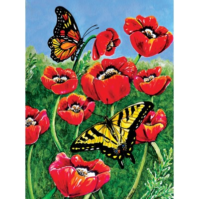 Puzzle  Sunsout-71455 Charlsie Kelly - Monarch and Swallowtails