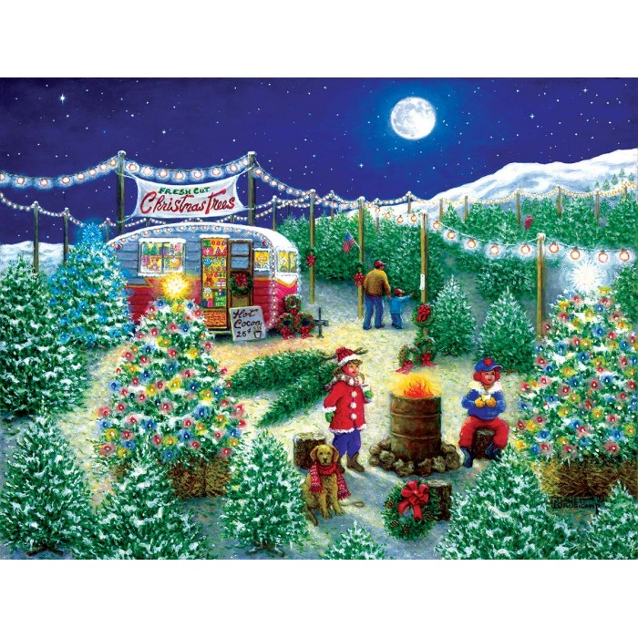 Puzzle Sunsout-76141 XXL Pieces - A Lot of Christmas Trees