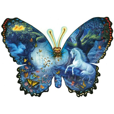 Puzzle  Sunsout-95330 Ruth Sanderson - Fantasy Butterfly