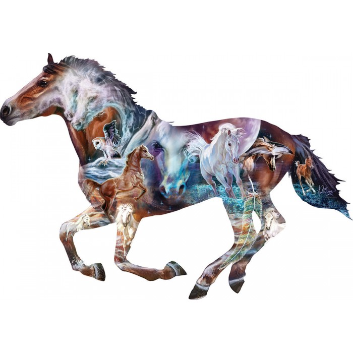 Puzzle Sunsout-95973 XXL Pieces - The Mystery of the Horse
