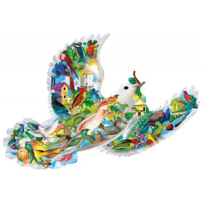 Puzzle  Sunsout-96010 Aimee Stewart - Feathered Friends