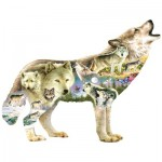 Puzzle  Sunsout-96038 XXL Pieces - Greg Giordano - Meadow Wolf