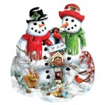 Puzzle  Sunsout-97071 Lori Schory - Snow Family