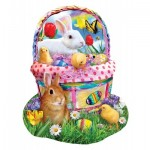 Puzzle  Sunsout-97124 Lori Schory - Bunny's Easter Basket