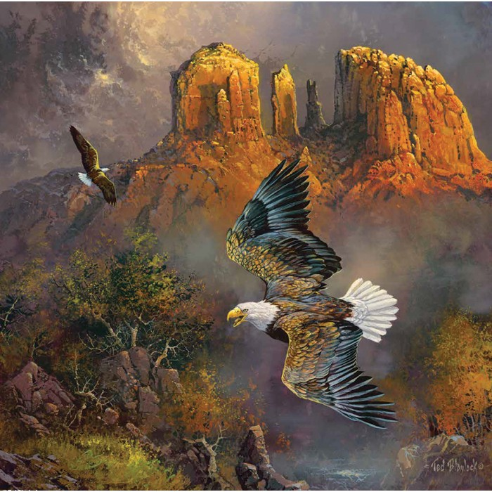 Puzzle Sunsout-36191 Ted Blaylock - Sedona Eagles