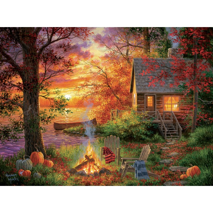 Puzzle Sunsout-69676 XXL Pieces - Abraham Hunter - Sunset Serenity