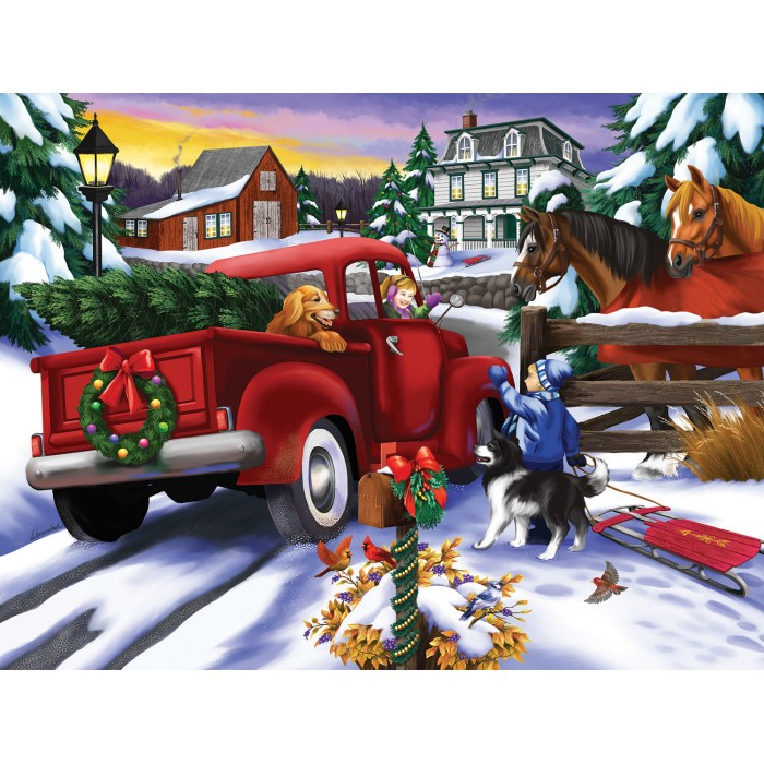 Puzzle Sunsout-63023 XXL Pieces - Bringing Home the Tree