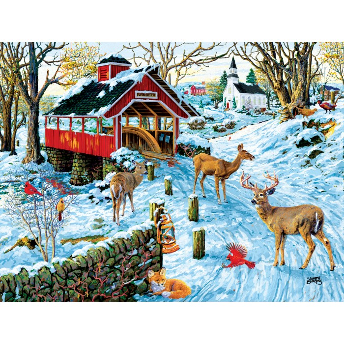 Puzzle Sunsout-38974 XXL Pieces - End of the Day Crossing