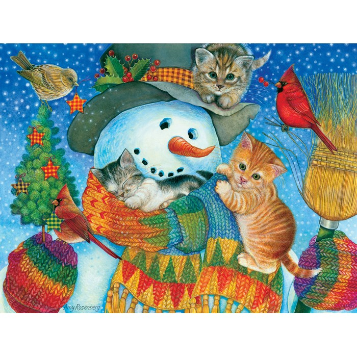 Puzzle Sunsout-71984 XXL Pieces - Snowman Cuddles