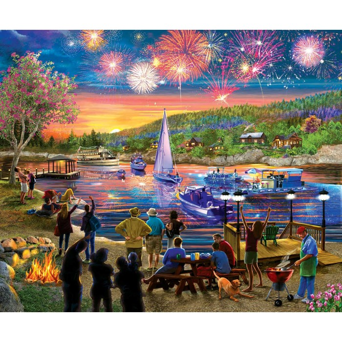 Puzzle Sunsout-31546 XXL Pieces - Summer Fireworks